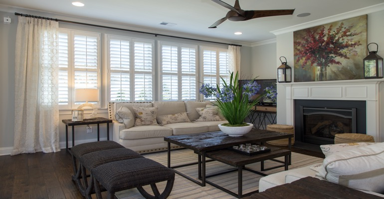 Plantation Shutters in Cincinnati Living Room