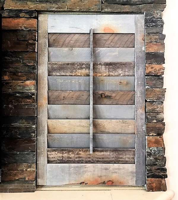 Cincinnati recycled wood shutter