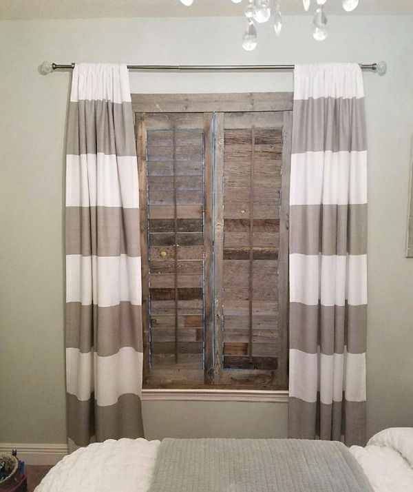 Cincinnati reclaimed wood shutter bedroom