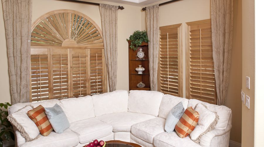 Arched Ovation Wood Shutters In Cincinnati Living Room
