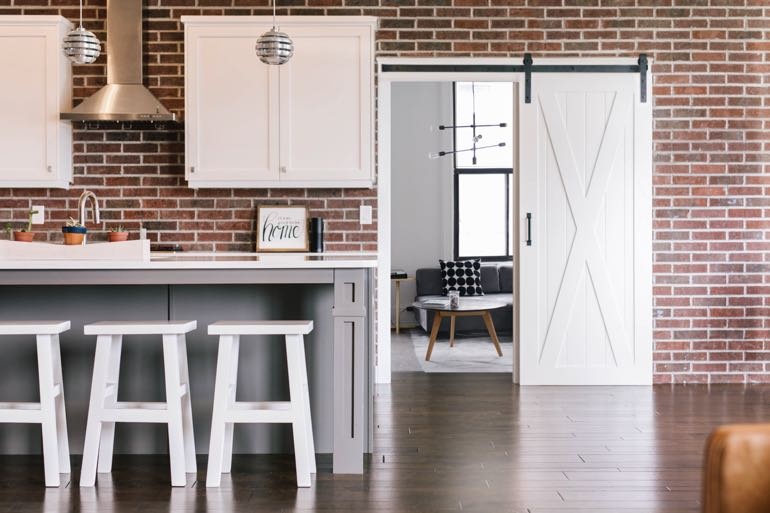 Cincinnati modern kitchen barn door