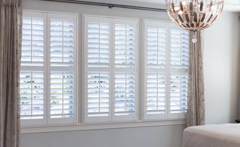 Cincinnati plantation shutters master bedroom