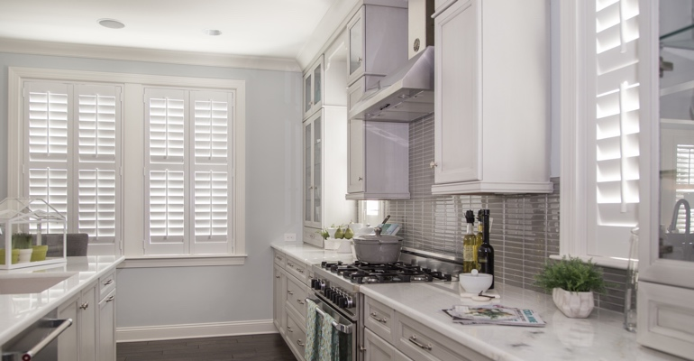 Cincinnati kitchen white shutters