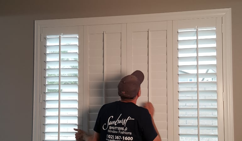 Installation of plantation shutters in Cincinnati