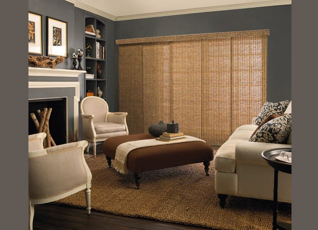 Cincinnati living room wide vertical blinds