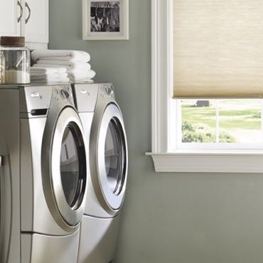 Cincinnati laundry room cellular shades.