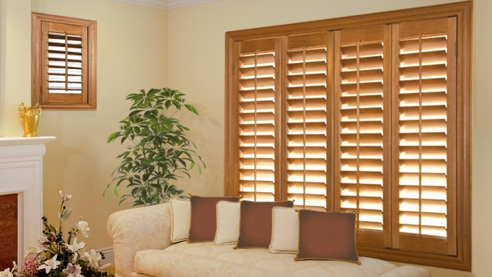 wood shutters Cincinnati sunroom