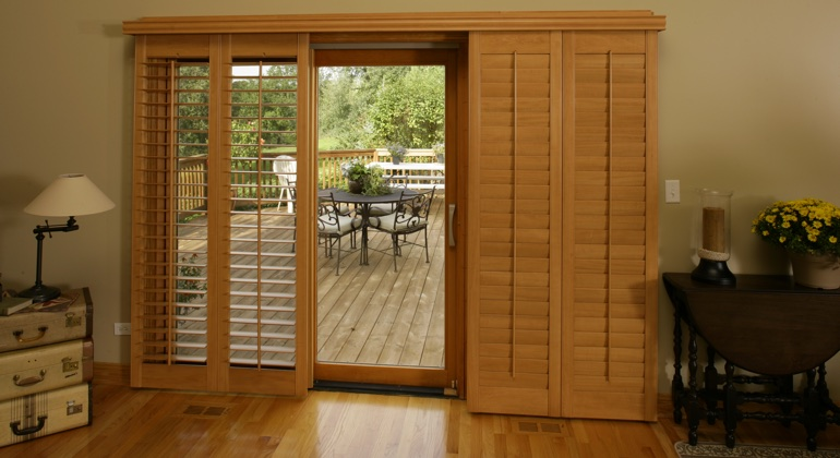 Cincinnati wood shutter sliding door