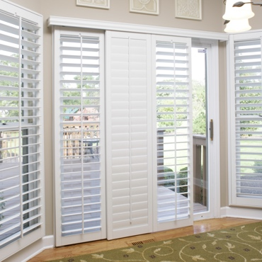 Cincinnati Sliding Patio Door Shutters