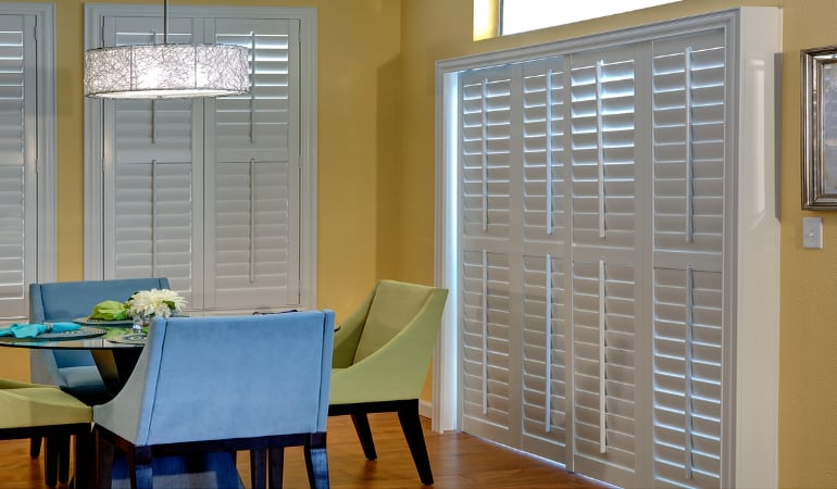 Patio Doors with Plantation Shutters in Cincinnati