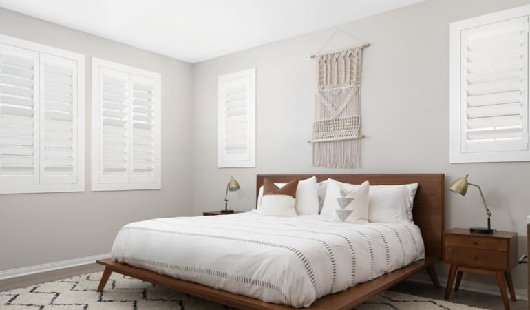 [White|Plantation]313] Shutters in Bedroom
