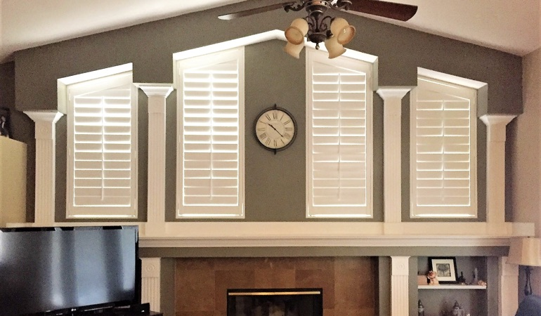Polywood Shutters in Family Room in Cincinnati