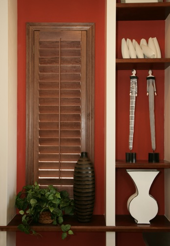 Cincinnati wood shutter shelving