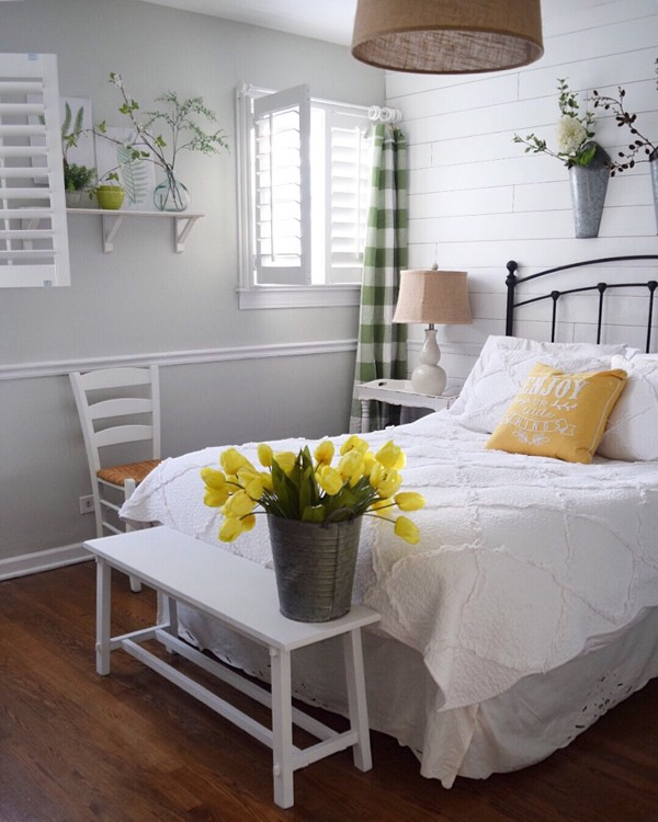 Cincinnati cottage bedroom shutters