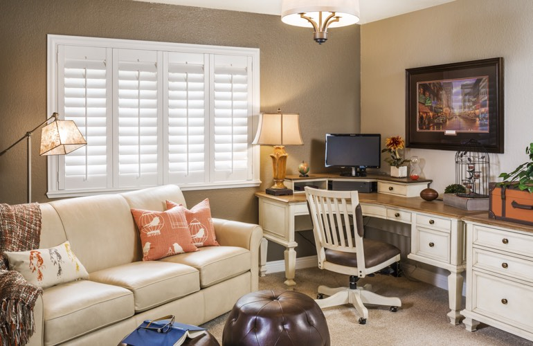 Home Office Plantation Shutters In Cincinnati