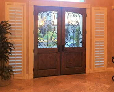 Cincinnati sidelight window treatment shutter